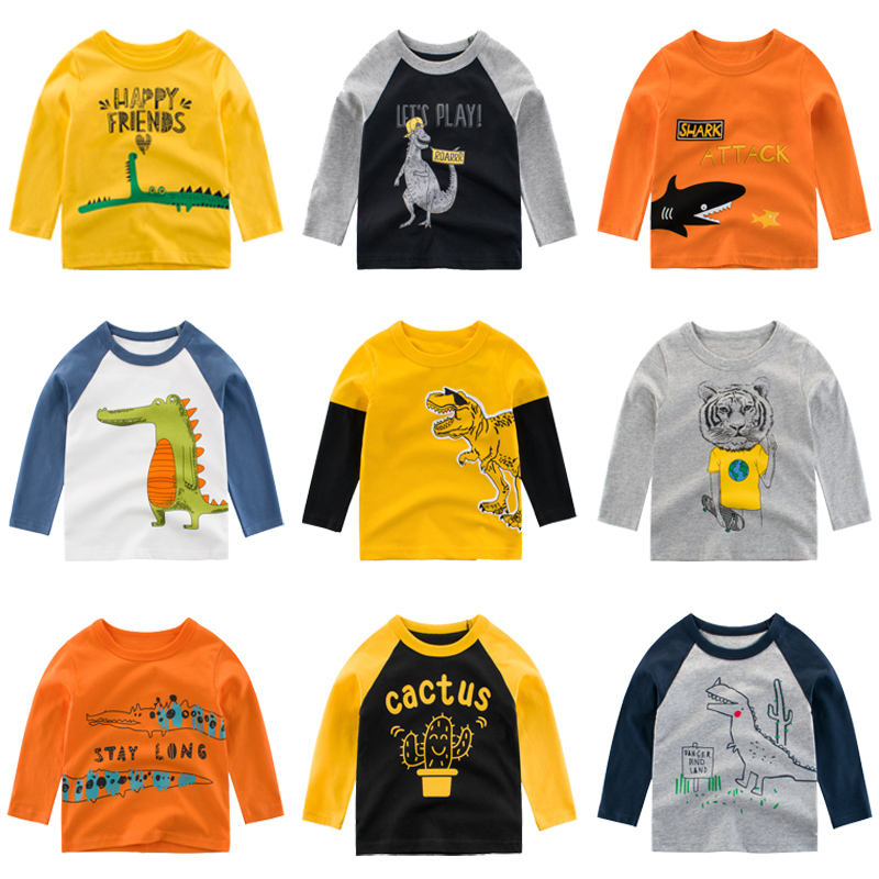 Soft Baby Girls  Boys Toddler Kids Long Sleeves Letter Printing Tee Tops T-shirt
