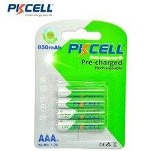 4Pcs/PKCELLแบตเตอรี่AAA Ni MH 850MAh 1.2V AAAแบตเตอรี่3Aแบตเตอรี่Baterias Bateria