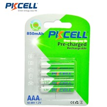 4Pcs/PKCELL AAA 배터리 ni mh 850mAh 1.2V AAA 배터리 3A 충전식 배터리 Baterias Bateria