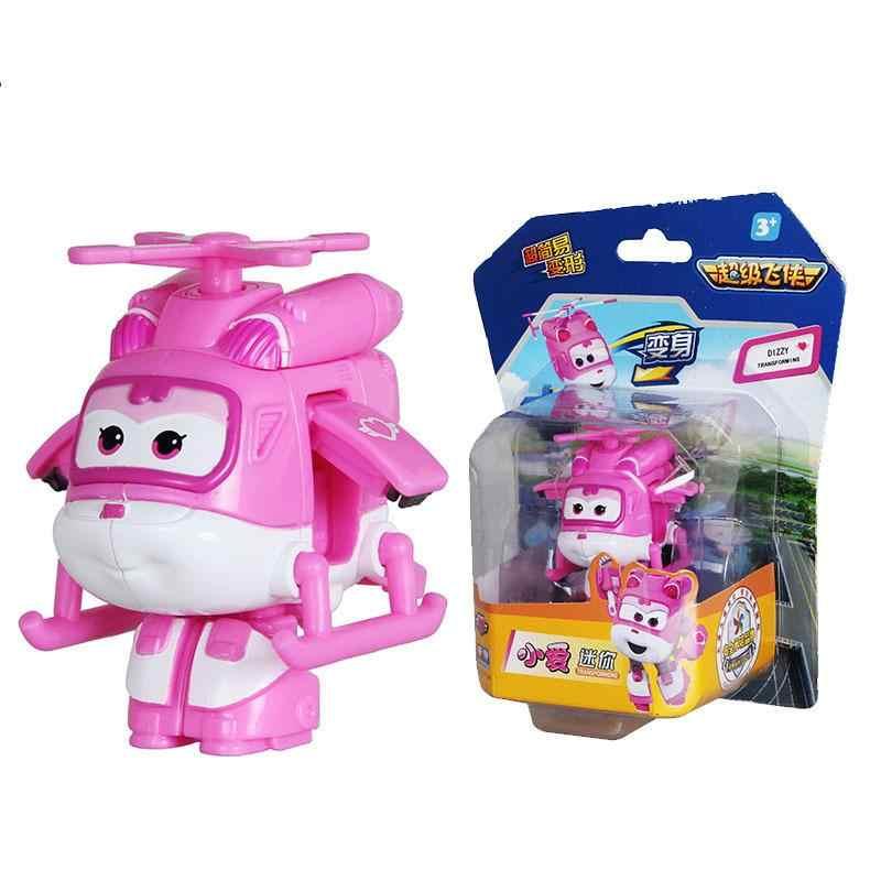 Super asas mini avião abs robô brinquedos figuras de ação super asa transformação jet animação crianças presente das crianças brinquedos