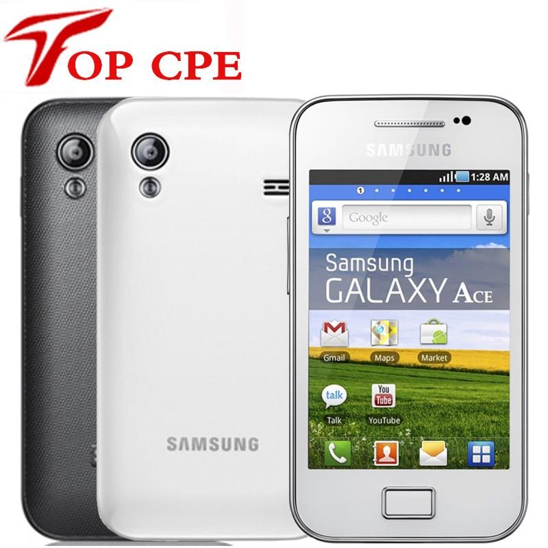 Samsung Galaxy ACE S5830 S5830i разблокированный сотовый телефон Wifi GPS 5MP камера 2G WCDMA отремонтированный GPS WIFI