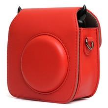 Fujifilm Instax Mini 25 Mini 26 Camera Case Bag PU Leather Cover with Shoulder Strap For Instax Mini 25 26 Polaroid Camera Cases цена 2017