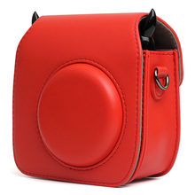 Fujifilm Instax Mini 25 Mini 26 Camera Case Bag PU Leather Cover with Shoulder Strap For Instax Mini 25 26 Polaroid Camera Cases(China)