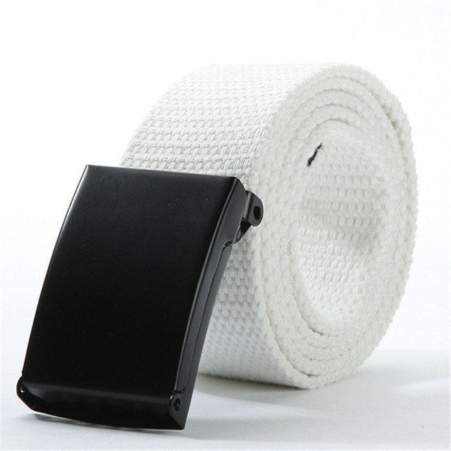 Casual Solid Webbed Unisex Belt