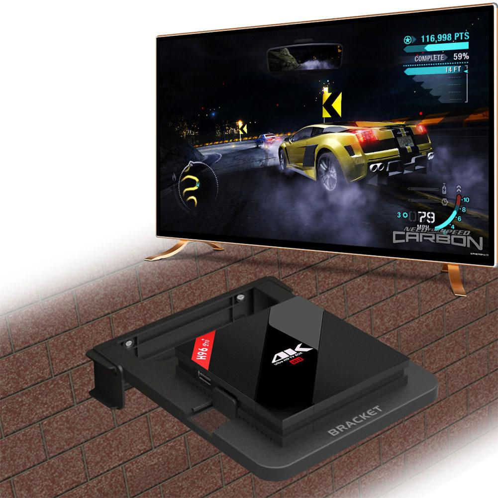LumiParty складной кронштейн для Android ТВ приставка подставка держатель стойки настенные крепления для хранения одно место полка r20 - Цвет: black
