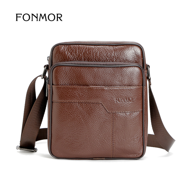 Fonmor Business Man Bag Leather Shoulder Cross Body Retro Mens Bags