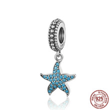 Starfish Pendant Charm 925 Sterling Silver Sea Creature Ocean Charms For Bracelet S925 Fine Jewelry Making Scc1210