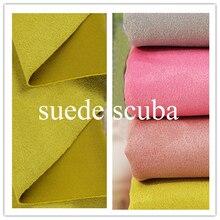 Modny płaszcz kurtka materiał dzianina brzoskwinia zamszowa tkanina Scuba Tecido