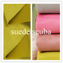 אופנה מעיל מעיל חומר לסרוג אפרסק זמש צלילה בד Tecido