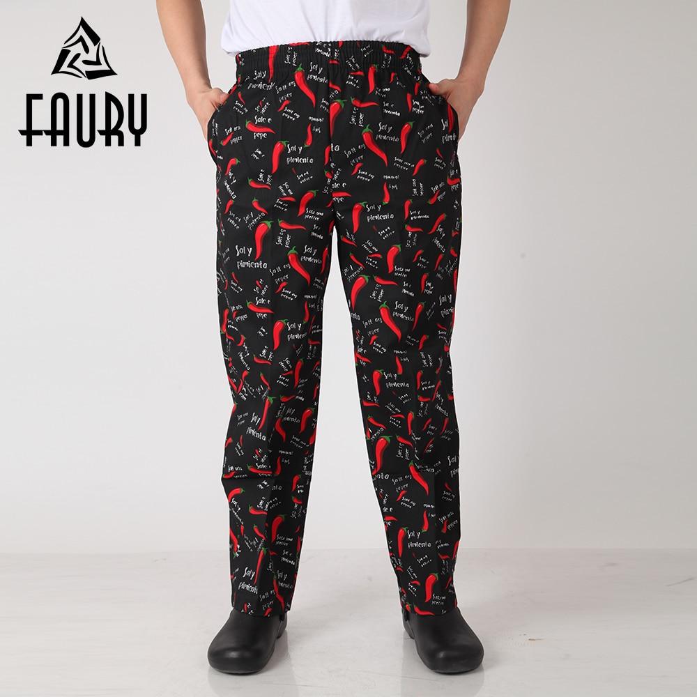 Lelaki Lada Merah Cetak Striped Pinggang elastik Seluar Panjang - Barang baru