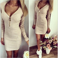 2017 Fashion Sexy Autumn Nursing Maternity Clothes Women Dress Long Sleeve V-neck Dress Maternity Dress Bodycon Casual Clothing