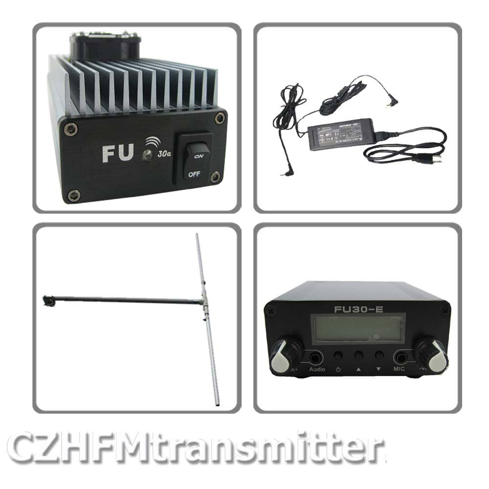 FMUSER FU-30A 30W Professional FM amplifier transmitter 85-110MHz free shipping fmuser fu 30c new 30w fm transmitter 0 30w adjustable for fm radio station 1 2 wave dipole antenna kit