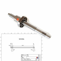 customized drawing SFU1204-440mm+single nut+end machined for cnc machined