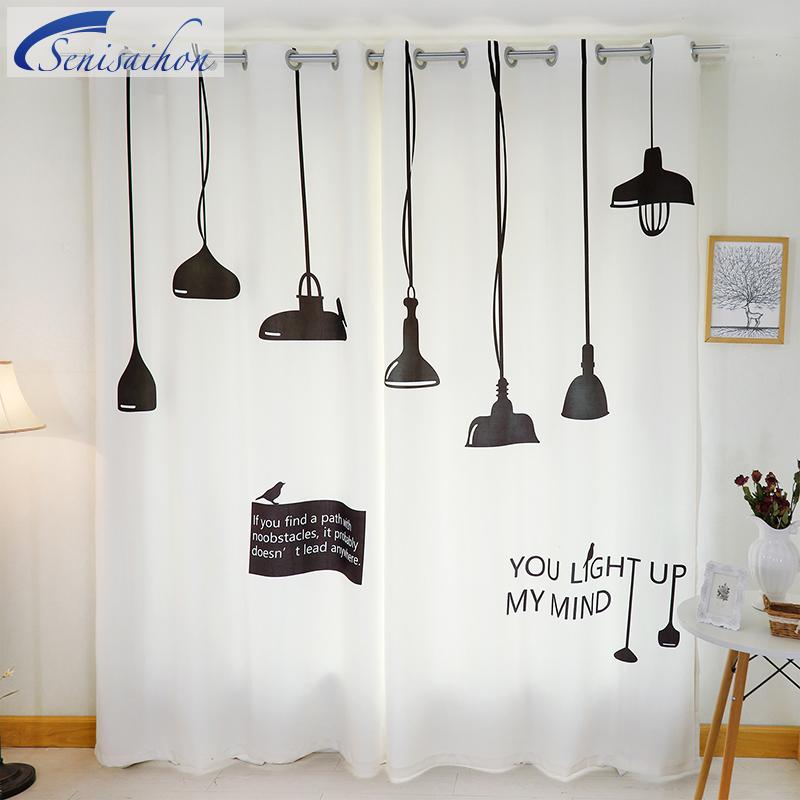 3D Blackout Vorhnge Nordic IKEA Garderobe Kronleuchter Muster Verdickt Stoff Kinder Schlafzimmer Fr Wohnzimmer