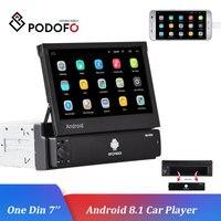 Podofo 1 DIN 7'' Car Multimedia Player Android 8.1 Autoradio Universal Car Radio Car Stereo GPS Wifi Bluetooth Auto Radio Stereo