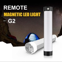 Strong Magnetic Remote Camping Light Cabinet Tent Bivvy Lamp 1W Black White USB Rechargeable Outdoor Camping Lantern Bar Light