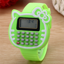 Fashion Children LED Watch Interesting Learning Tools Calculator Eectronic Watch Cartoon Student Boy Girl Wrist watches Relogio