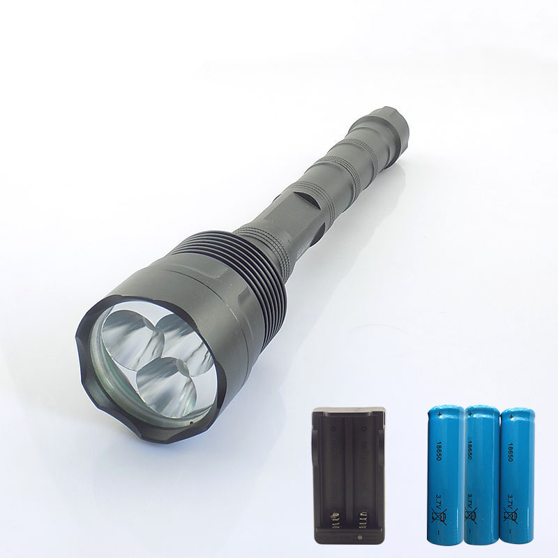 Powerful 6000 Lumens LED Tactical Flashlight Long Searchlight 3*CREE T6 protable with 18650 battery Lanterna Torch Lamp Light km 8014a cree q5 led handheld waterproof outdoor tactical flashlight torch long beam distance flashlight searchlight