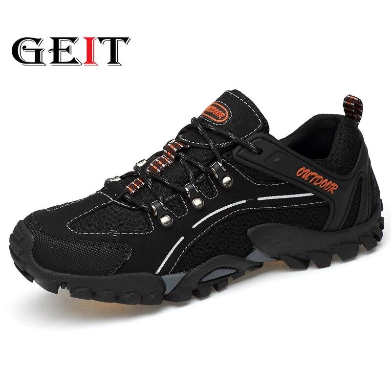 Chaussures de randonnée pour hommes bottes tactiques hommes chaussures de plein Air Air Mesh respirant lumière Sneaker chaussures de randonnée de montagne hommes bottes de chasse
