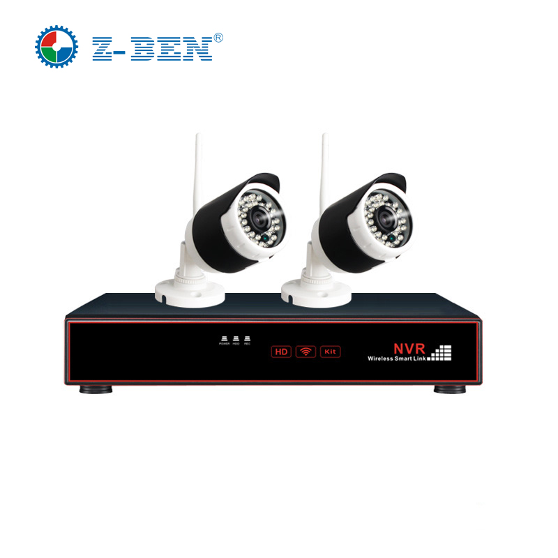 Z-BEN Plug and Play 4CH Wireless NVR Kit P2P 720P HD Outdoor IR Night Vision Security IP Camera WIFI CCTV System Support 4TB HDD  anran plug and play 4ch security camera system wireless nvr kit p2p 720p hd outdoor ir night vision cctv ip camera system
