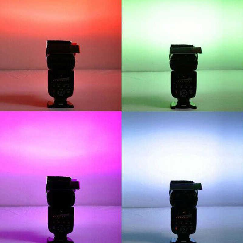 Đa Năng Đèn Flash Máy Ảnh 12 Gel Màu Lọc Khuếch Tán Thẻ Bộ Dành Cho Máy Ảnh Canon Nikon Sony DSLR Camera Đèn FLASH SOFTBOX Mềm Mại hộp