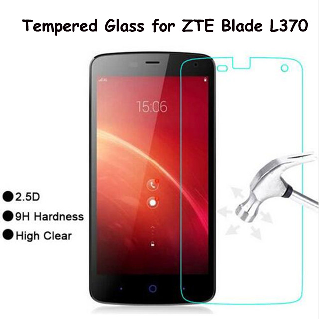 Tempered Glass Film for ZTE Blade L370 l 370 9H 2.5D Front Explosion-proof LCD Screen Protector for ZTE L370 Pelicula De Vidro >