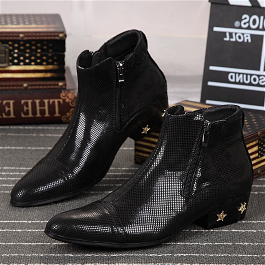 Mens black square toe cowboy boots online shopping-the world
