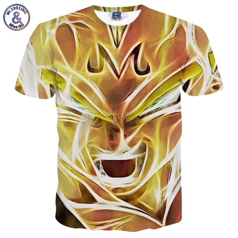 Mr.1991INC Harajuku Anime T-shirt Dragon Ball Tees Men Fashion Summer Tops T shirt Print Cartoon Characters Tee shirts