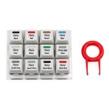 Cherry 12 commutateurs testeur avec XDA colorant sub keycaps contient Cherry mx/silencieux rouge noir/vitesse argent/RGB argent commutateurs