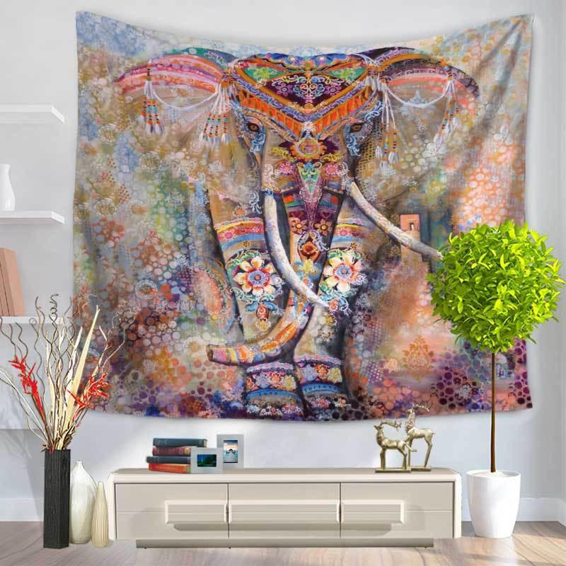 2017 Jaunais Indijas Mandala gobelēns Hippī sienas pakaramais - Mājas tekstils