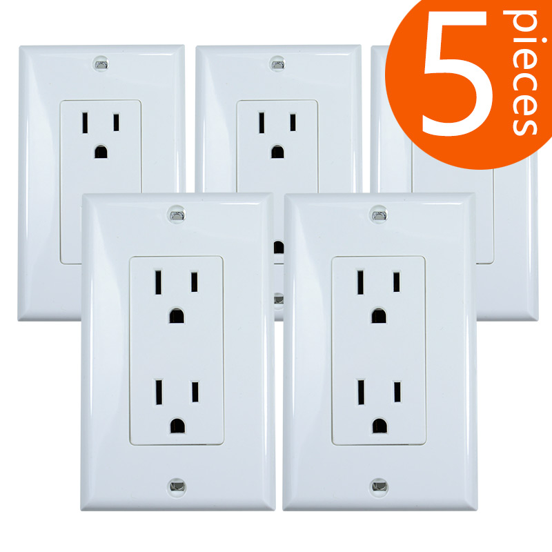 5 Pieces 125V North America 15A American Standard wall power outlet beauty UL certification regulations double