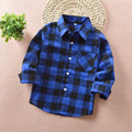 new arrival 2016 autumn fashion children kids boys girls plaid shirts baby boys cotton long sleeved tops tie&shirts Tx012