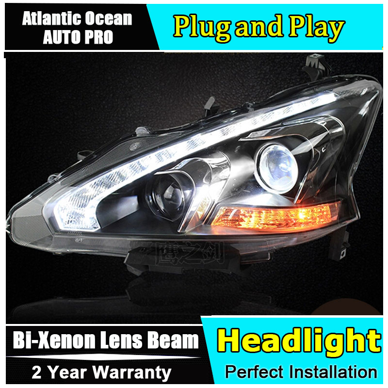 Car Styling LED Head Lamp for Nissan Teana led headlight 2013-2014 New Altima headlights drl headlight HID KIT Bi-Xenon Lens car styling new arrival headlight for