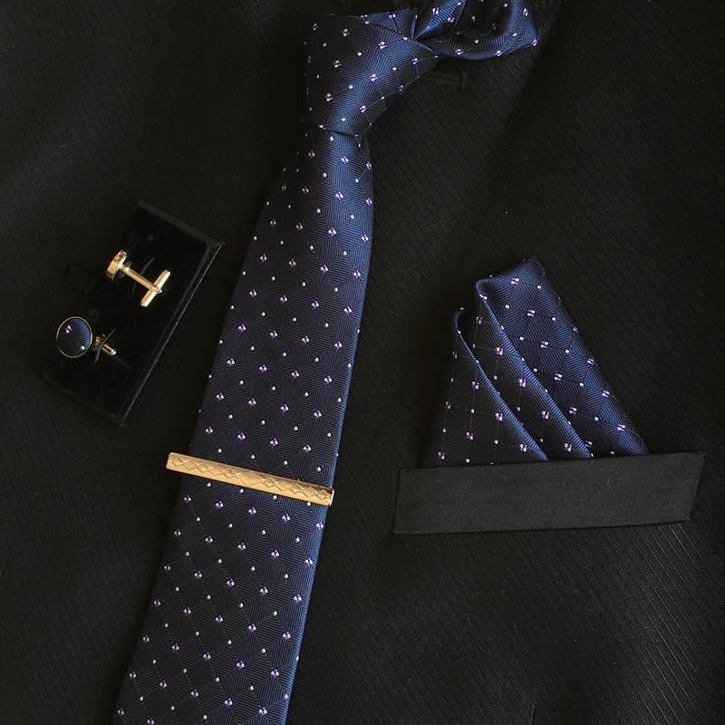 SHENNAIWEI manar 8cm mode märke lyxiga slipsar fyrkantiga bröllop - Kläder tillbehör - Foto 2