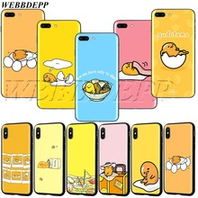 WEBBEDEPP Gudetama busy Egg TPU soft Case for iPhone 11 Pro XS MAX XR X 8 7 6 6s 5 5s Plus(China)