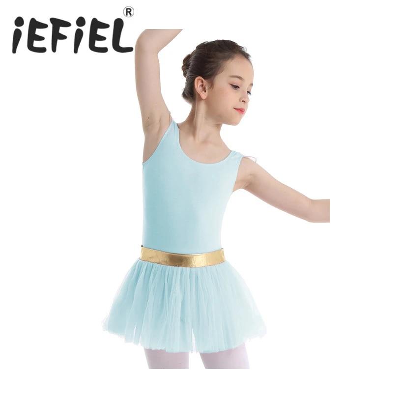 Girl Ballet Tutu Dress Gymnastics Leotard Skirt Ballerina Swan Costume Dancewear