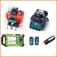 2 sets Orientek Tool Kit, including T45 Fusion Splicer, SV20A OTDR, Power Meter Optical Light Source VFL, with UPS shipping cost