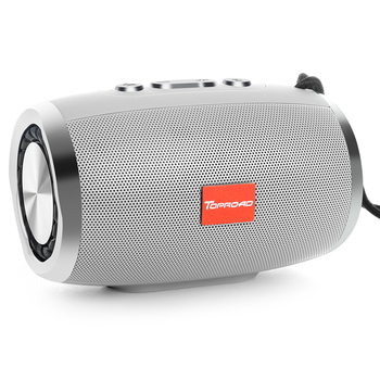 toproad hifi portable wireless bluetooth speaker and boombox with fm radio tf aux and usb for phones