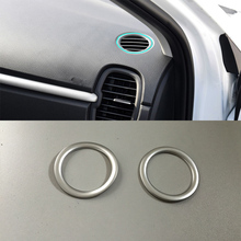 Car Accessories ABS Interior Front Upper Air Vent Outlet Cover Trim For Kia K2/Rio 2017 Car Styling 1 set car stying chrome for kia rio 4 k2 2017 2018 air outlet circle cover interior mouldings decoration frame