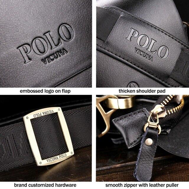 Men Leather Sling Bag Casual Business Leather Mens Messenger Bag Vintage Men's Crossbody Bag 5