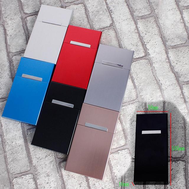 Fashion Ultra Thin Pipes Creative Personality Cigaret Case Slim Metal Cigarette Box Aluminum Gift Box Cigarette Holder