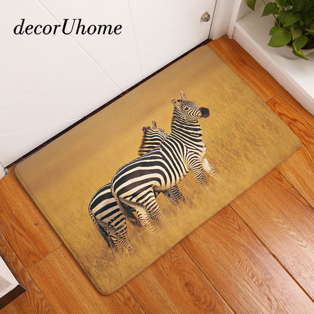 decorUhome Anti Slip Floor Mat Waterproof Animals Zebra Kitchen ...