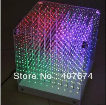 Freeshipping New Smd0805 3in1 3d Led Cube Light,3d Cube Light For Advertising,disco Party Show,exhibition,avenues,3d Animations Stage Lighting Effect Commercial Lighting