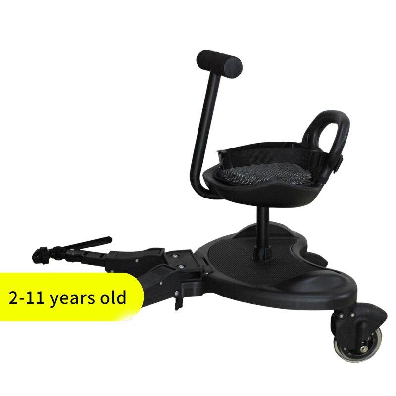 Dengeng Kinderwagen Pedal Stroller Hilfspedal Zweitkind Artefakt Anh/änger Zwillinge Babywagen Zwei Kinder Stehplatte Sitzsitz Kinderwagen Zubeh/ör