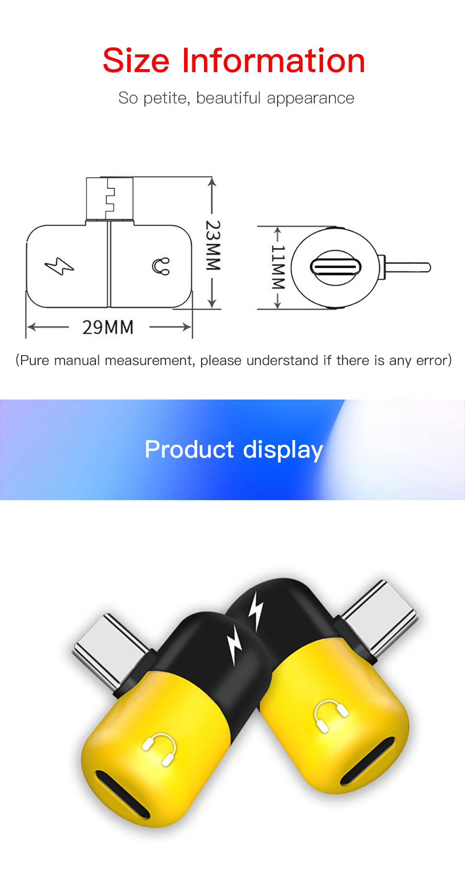 !ACCEZZ Pill Shape Adapter USB Type C For Huawei P20 Samsung S8 S9 Plus Note 8 3.5mm Jack Aux Adapter For HTC Oneplus 7 Pro Mi 9 (8)