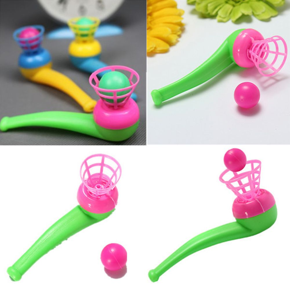 6 Pcs Fun Blow Pipe Balls Pinata Toy Loot Party Bag Fillers Wedding Childhood Classic Toy Random Color