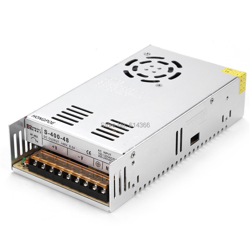 Best quality 48V 8.3A 400W Switching Power Supply Driver for CCTV camera LED Strip AC 100-240V Input to DC 48V 36pcs best quality 12v 30a 360w switching power supply driver for led strip ac 100 240v input to dc 12v30a