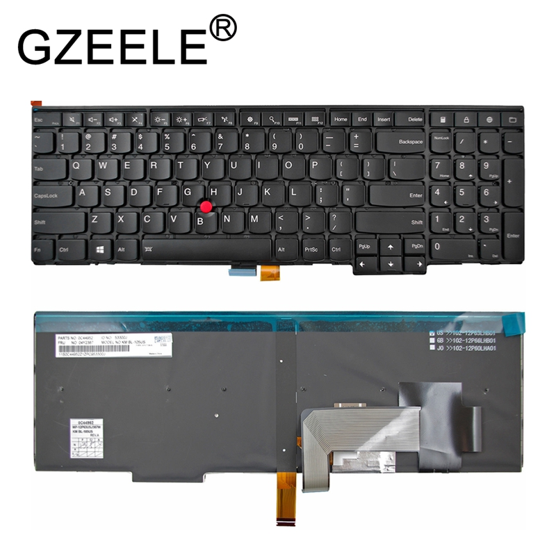 GZEELE new for Lenovo for IBM for Thinkpad T550 L540 T560 English Backlit US Laptop Keyboard new us for lenovo ibm thinkpad t470 us laptop keyboard black no backlit
