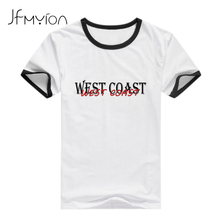Punk Size 2xl Europe West Coast Hip-hop White T Shirt Women Funny Letter Print Rock Beautiful Patchwork Tops T-shirt Loose Tees
