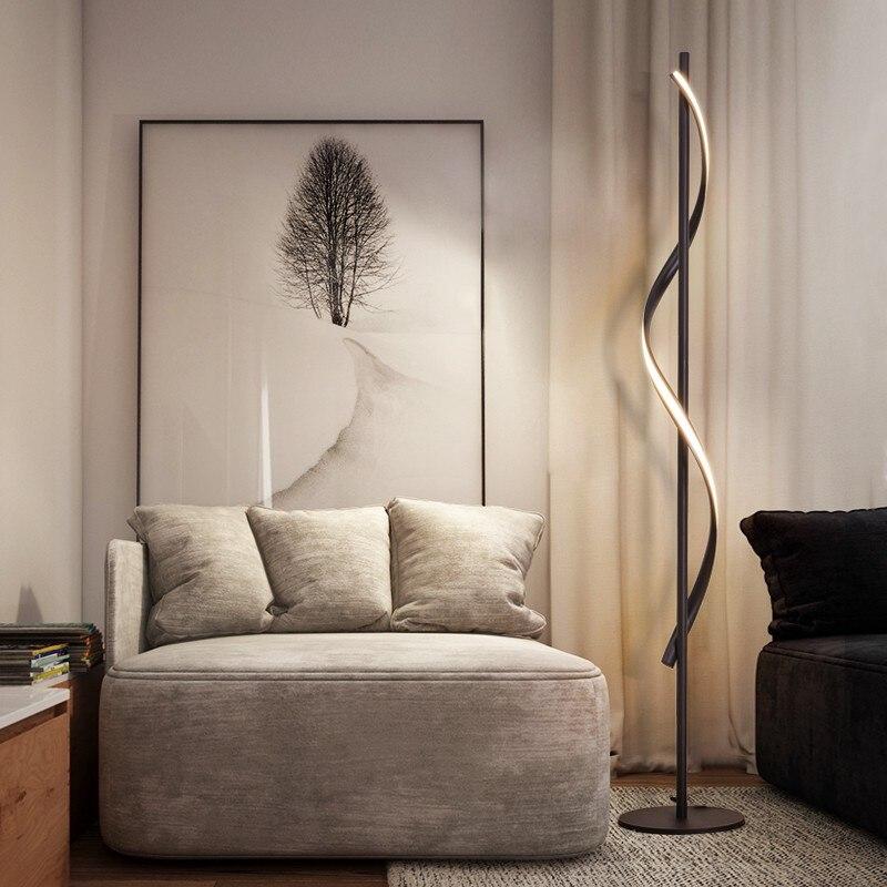 Image 2 - JAXLONG Modern LED Floor Lamp Living Rooms Standing Lamp Pole Floor Light Rooms Standing Light Bedrooms Office Dimmable Lighting-in Floor Lamps from Lights & Lighting